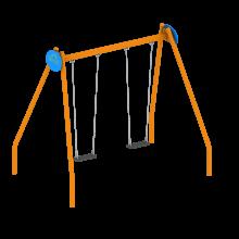 HUśtawka malowana proszkowo na place zabaw