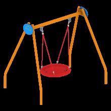 Huśtawka typu bocianie gniazdo na place zabaw