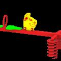 Huśtawka sprężynowa Ryś Max - zbliżenie