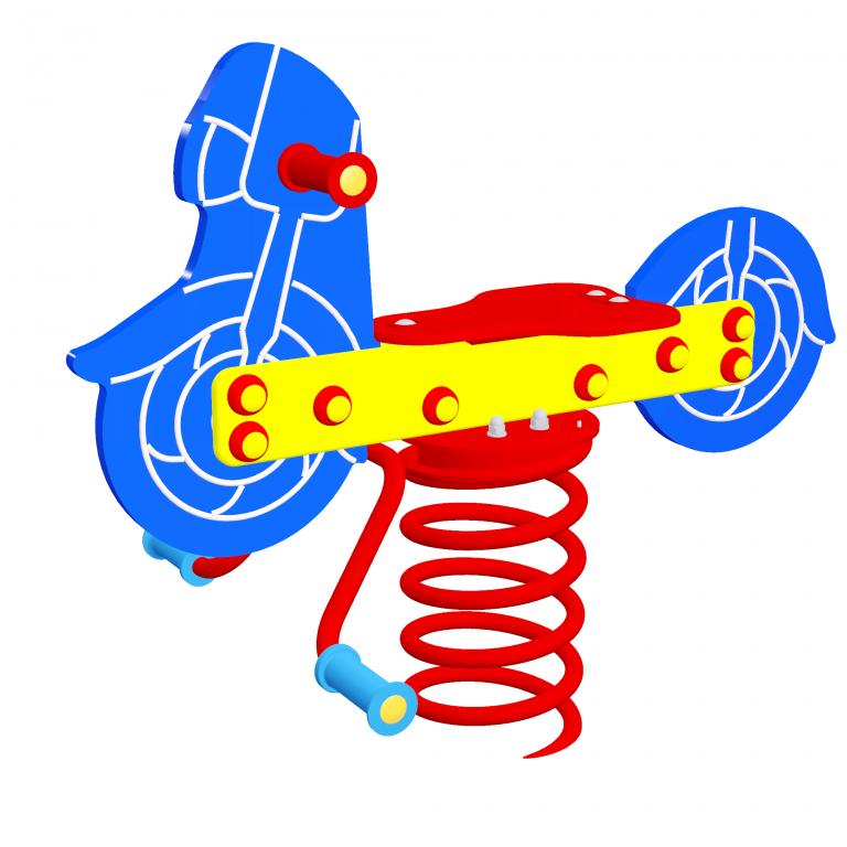 Huśtawka sprężynowa Motocykl
