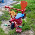 Huśtawka sprężynowa BMX - na placu zabaw