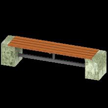ławka betonowa wolnostojąca