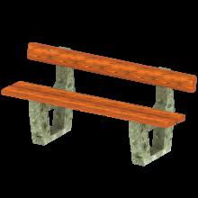ławka betonowa kompan
