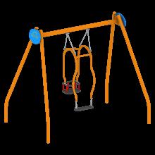 Huśtawka Familijna na plac zabaw; Huśtawka typu matka dziecko