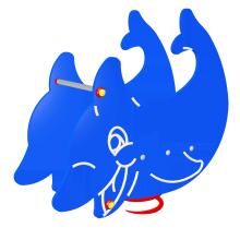 Huśtawka sprężynowa Delfin