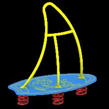Huśtawka sprężynowa Żaglówka