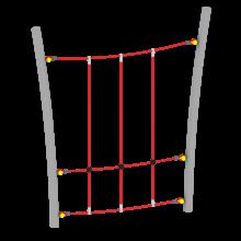Ścianka linowa pionowa