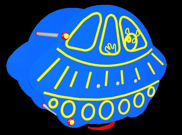 Huśtawka sprężynowa statek kosmiczny