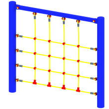 Ścianka linowa prosta