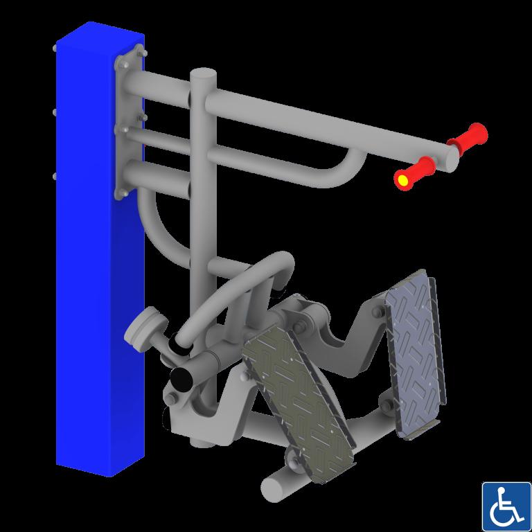 przyciskacz nóg dla osób z niepełnosprawnością