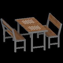 stół z ławkami Senior