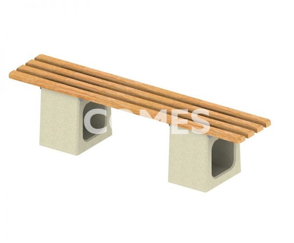 ławka betonowa bez oparcia elegant