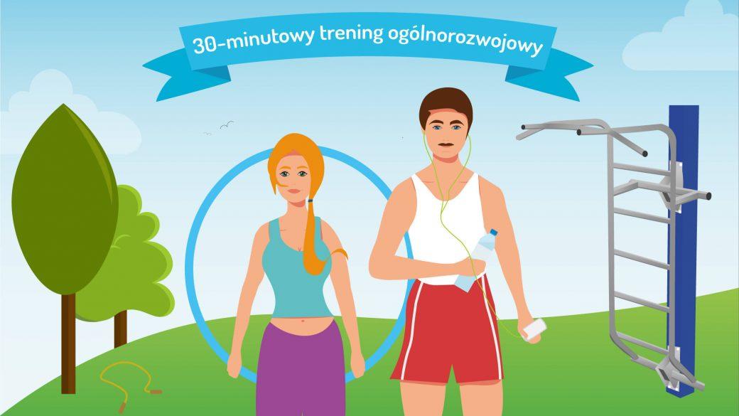 trening na siłowni plenerowej
