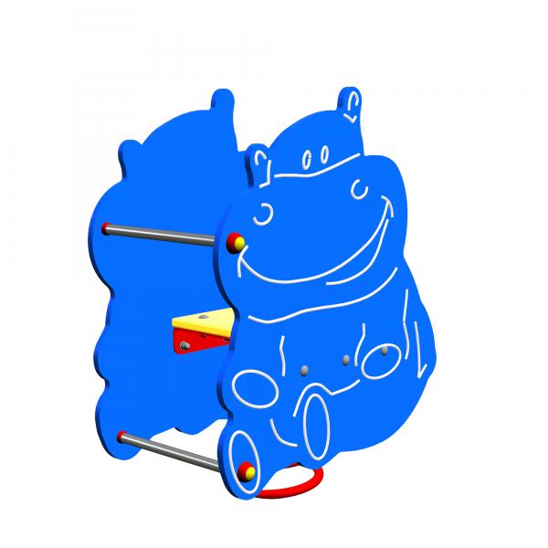 Huśtawka spręzynowa Hipopotam