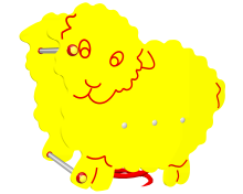 Huśtawka sprężynowa Owieczka