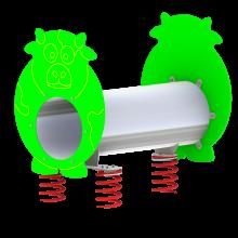 Sprężynówka Krówka to tunel na sprezynach na plac zabaw.