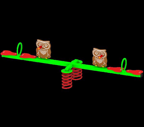 Huśtawka sprężynowa Ryś Max z Sową