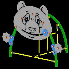 Przeplotnia Bajka Panda. Producent Comes - urządzenia na place zabaw.