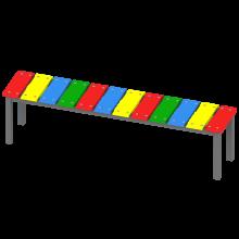 ławka Ola. Kolorowa, tęczowa, bajkowa ławka.