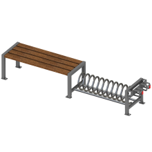 ławka systemowa. urban furniture, urządzneia komunalne