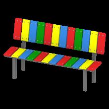 ławka tola. Kolorowa, bajkowa ławka na plac zabaw.