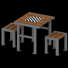 stół z ławkami senior 2. Urban furniture. Rekreacja na świeżym powietrzu.