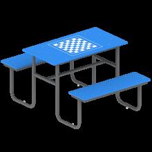 stolik z ławkami szach