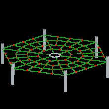 urządzenie linowe pajęczyna