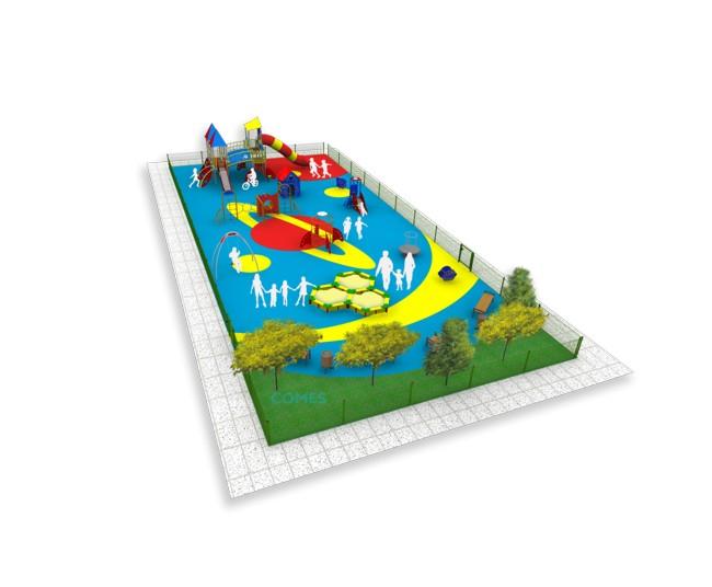 Wizualizacja 3. Kosmiczny plac zabaw COMES
